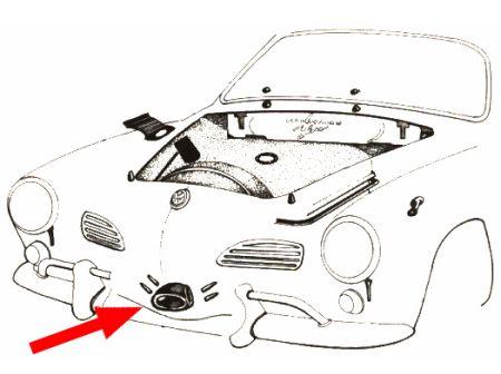 Joint entre le klaxon et la carrosserie dans le panneau avant