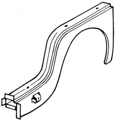 Arc d'aile avant gauche Type2 10/62-07/67