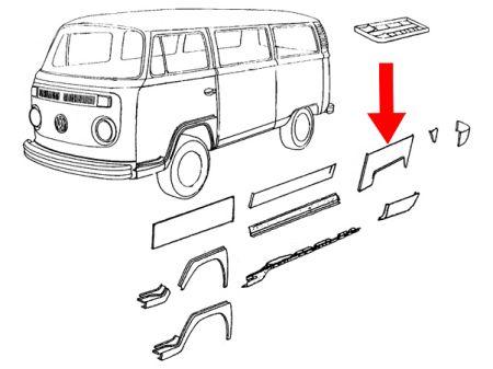 Arc d'aile arrière gauche Type2 68-72  Auto Craft