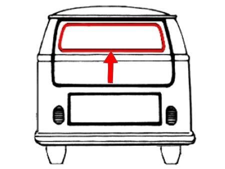 Joint de vitre arrière avec angles préformés (Qualité allemande)