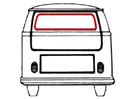 Joint de vitre arrière avec des angles préformés (Qualité supérieure)