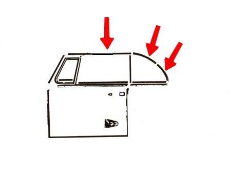 Joint entre vitre latérale et capote