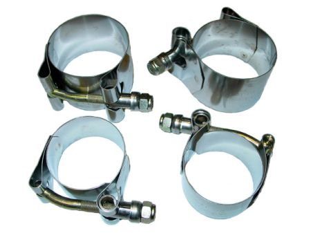 Kit fixation barre stabilisatrice avant, inox Type 1 08/65