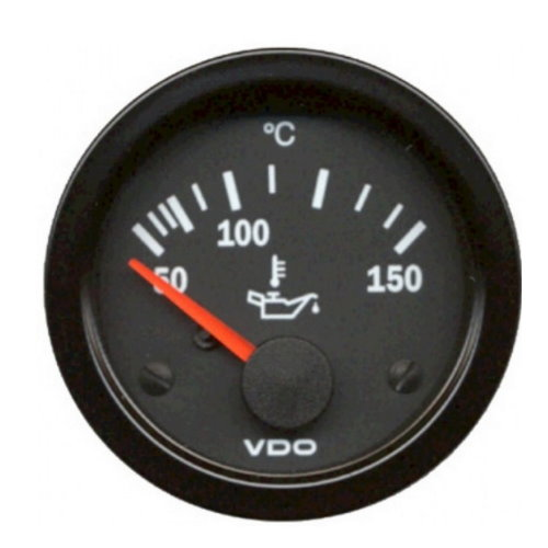 Cadran de température d'huile 50-150° diam 52mm VDO