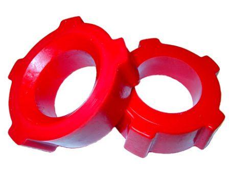 """set de 2 silentblocs uréthane crénelé 1-3/4"""" (diamètre int 4,5cm)"""