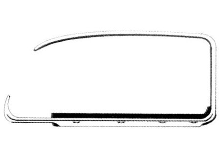 Lèche-vitre et chrome gauche 65  (Qualité allemande)
