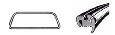 Joint de pare-brise deluxe (Qualité allemande) 08/5707/64