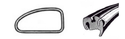 Joint de vitre latérale gauche deluxe (Qualité allemande) 04/5307/64