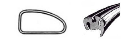 Joint de vitre latérale droit deluxe (Qualité allemande) 08/6407/71