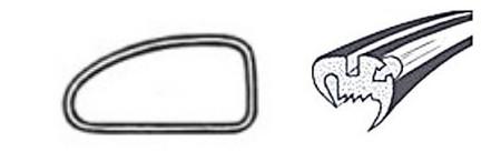 Joint de vitre latérale gauche deluxe (Qualité allemande) 08/71