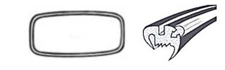 Joint de vitre arrière deluxe (Qualité allemande) 08/71