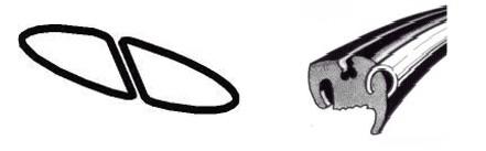 Joint de vitre arrière deluxe (Qualité allemande) <-03/53