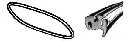 Joint de vitre arrière deluxe (Qualité allemande) 04/5307/57