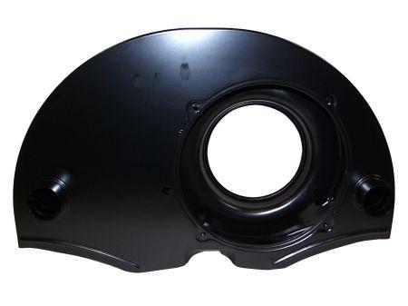 Turbine ronde noire avec chauffage avec radiateur