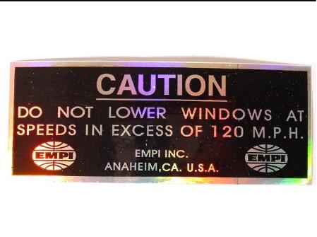 autocollant EMPI CAUTION