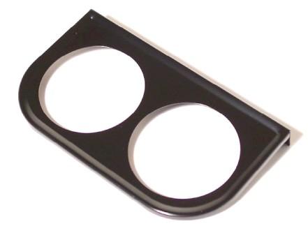 support de manometre diam 52mm sous tableau de bord 2 trous noir VDO