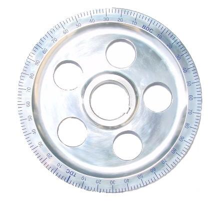 Poulie alu bleue diamètre origine avec trous