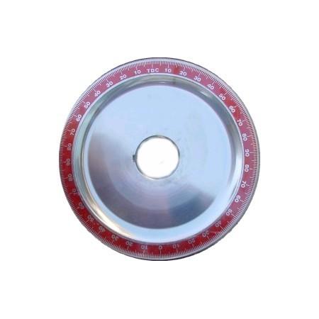 Poulie alu rouge diamètre origine sans trous