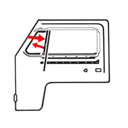 Joint de déflecteur pour fenêtres fermées
