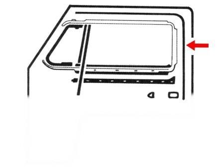 """Canal de vitre en forme de """"U"""" pour kit 1 vitre"""