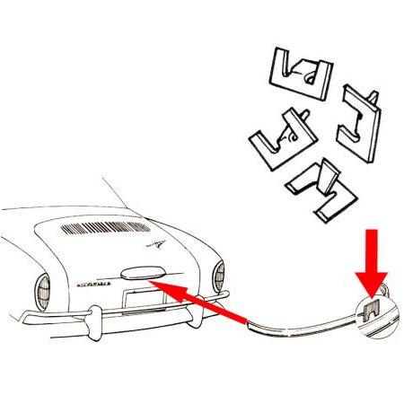 Agrafe pour moulure éclairage de plaque KG , par 4 pièces