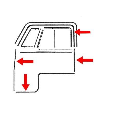Joint de porte avant gauche/droite