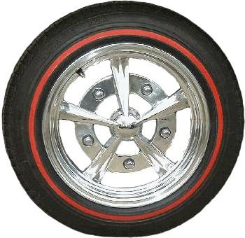 """Set de 4 flancs à fin liseret rouge pour pneu 15"""""""