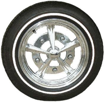 """Set de 4 flancs à fin liseret blanc pour pneu 15"""""""