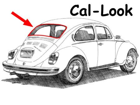 Joint de lunette arrière Cal Look 8/71