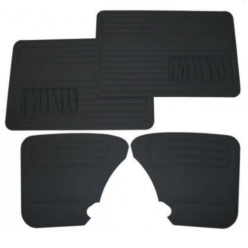 set de 4 panneaux de porte noirs avec vide poche 67- ECONOMIQUE