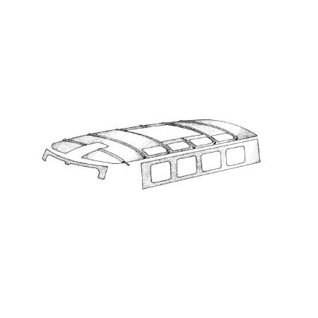 Ciel de toit T2 64-79 blanc au dessus des passagers avant