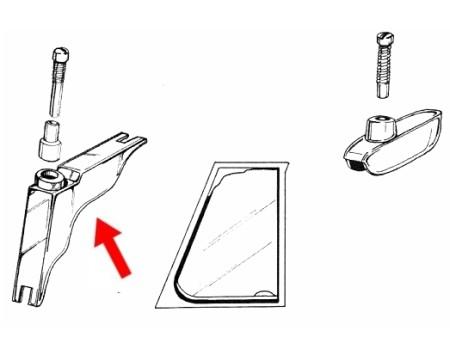 Charnière de déflecteur complet avec une vis (Gauche & droite)