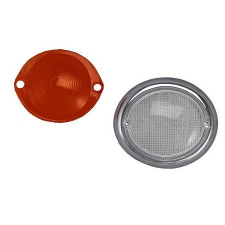 Verre clignotant gauche Type2 63-67 blanc/orange