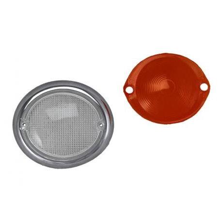 Verre clignotant droite Type2 63-67 clair/orange