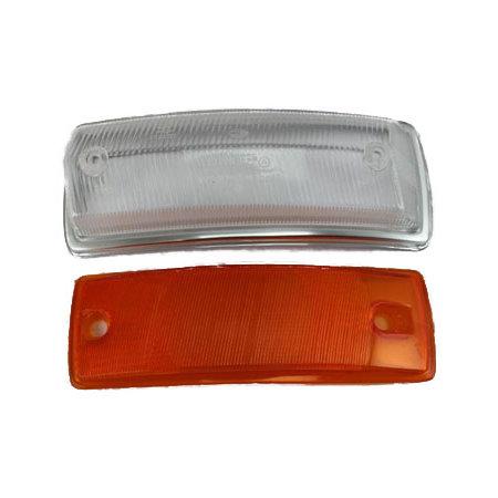 Verre clignotant gauche Type2 67-72 clair/orange avec homologation E