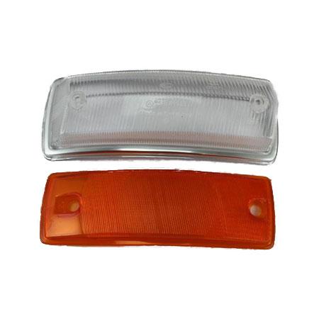 Verre clignotant droite Type2 67-72 clair/orange avec homologation E