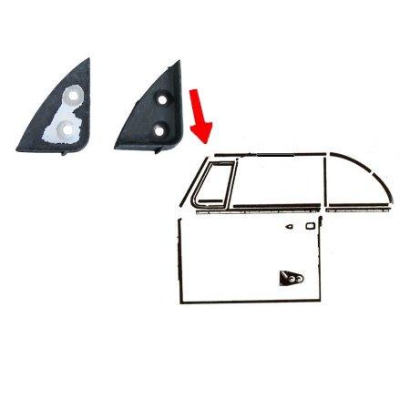Caoutchouc de coins avant d'armature de toit gauche/droit