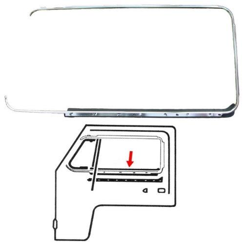 Lèche-vitre extérieur gauche et baguette chromé (Qulaité allemande)