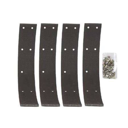 SET DE 4 BANDES DE FREINS A RIVETER VENDUES AVEC RIVETS  47-53