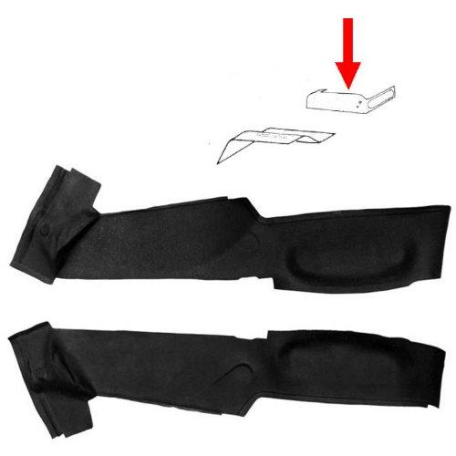 Set de 2 tapis caoutchouc enveloppant la surélévation des sièges avant (G et D)