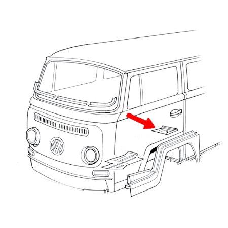 Tôle de réparation de la ceinture de sécurité gauche