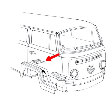 Tôle de réparation de la ceinture de sécurité droite