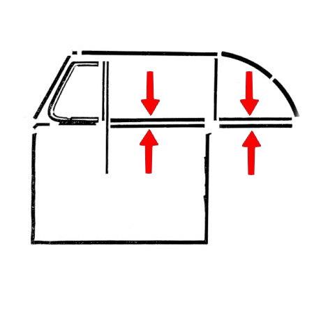 2 lèche-vitres avant/arrière intérieur/extérieur gauche/droite