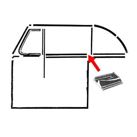 Set de 2 joints à l'arrière de la porte avant gauche/droite