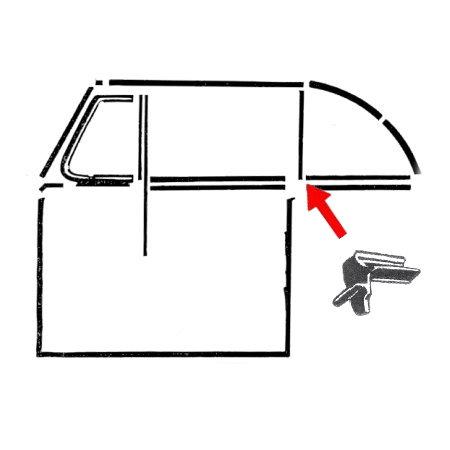 Set de joints de haut de montant arrière gauche/droit
