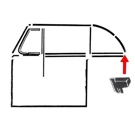2 joints d'embout de capotage arrière gauche et droite