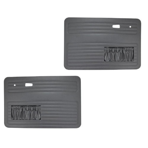 Set de 2 panneaux de porte noir cabrio 68 TMI