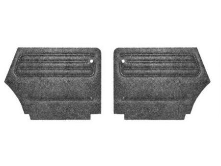 Set de 2 panneaux arriére noir cabrio 73-79 TMI