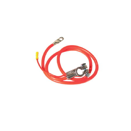 Câble positif de batterie, rouge 970 mm, rouge 80 mm