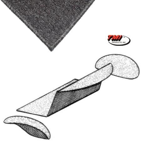 Kit moquette de coffre arrière grise cabriolet  56-72